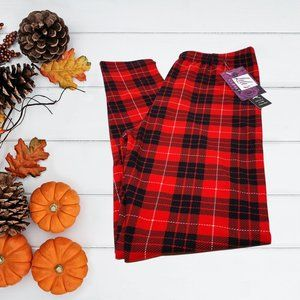 Buttery Soft Ruby Red Plaid Leggings